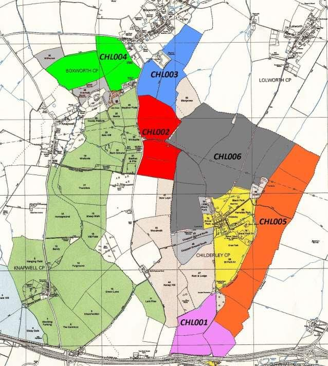 CAFG Grouped areas