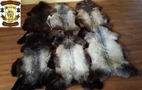4.Natural multi colored sheepskin : Decorative sheepskins in natural colours. Highest quality goods, very difficult to acquire since they are scarce on the market.