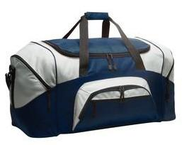 Pads and Bags! 8 Port & Company - Colorblock Sport Duffel #BG99 Our best-selling, budget-friendly duffel sized for the gym or weekend getaways.