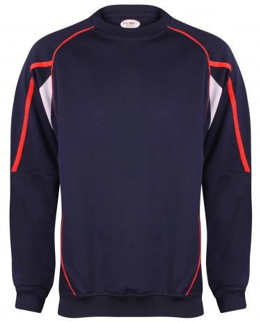 SWEATSHIRT Crew neck long sleeve style with Knitted weltideal for coordinating with any of the Teamstar range.