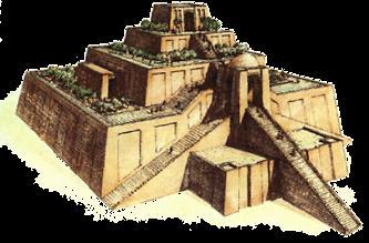 The Sumerian temple was a small brick house that the god was supposed to visit periodically.