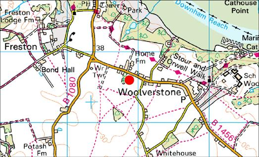 1.0 Introduction An archaeological evaluation (site code: WLV 047) was carried out at Home Farm, Woolverstone (Fig 1) in accordance with an archaeological condition relating to planning permission