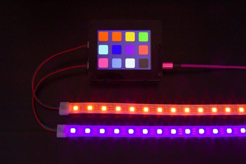 Overview This simple project adds a little color to your life with CircuitPython, PyPortal and NeoPixels.