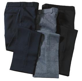 zipper, two front and back pockets, rubberized waistband Tall sizes available 100% Polyester, 6.2 oz.