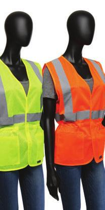 ANSI CLASS 2 VESTS 47207 /47208 Hi-Viz Ladies Fitted Safety Vest - Drawstring on the interior waistband provides a custom fit - 2 Exterior square pockets - Hook & loop closure - fabric STYLE NUMBER