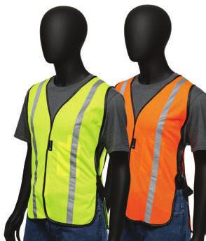 GENERAL USE VESTS 4700 /470 Hi-Viz General Use Safety Vest - Adjustable straps at waist -