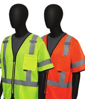 ANSI CLASS VESTS 4700 /470 Hi-Viz Economy Safety Vest - 2 Interior oversized pockets -