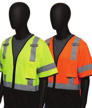 front / fabric back ANSI CLASS 2 VESTS 4727 /4728 Hi-Viz Self-Extinguishing Safety Vest - Treated mesh fabric self extinguishes when exposed to flame -