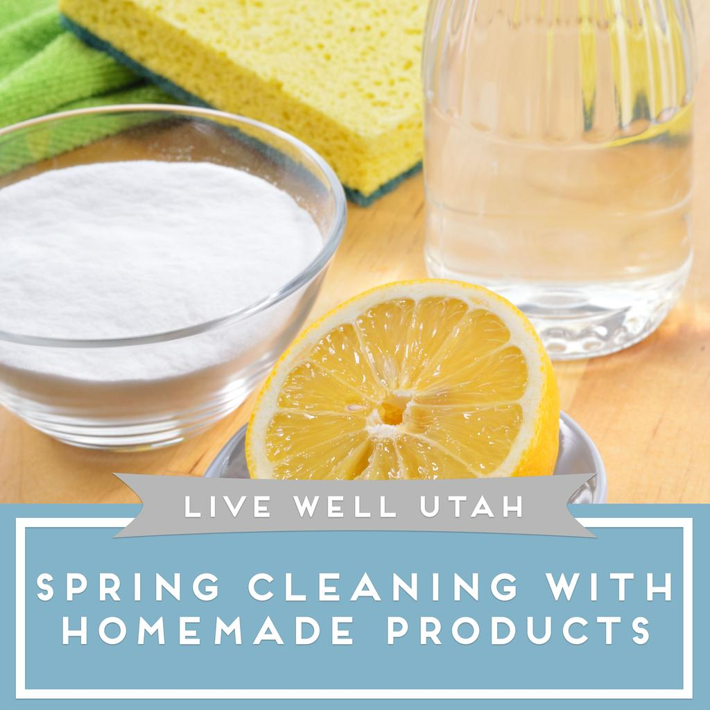 Spring Cleaning with Homemade Products Try these DIY cleaning products to get your home sparkling clean this spring.