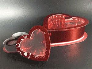 Infinity Mirror Valentine's Candy Box Created by