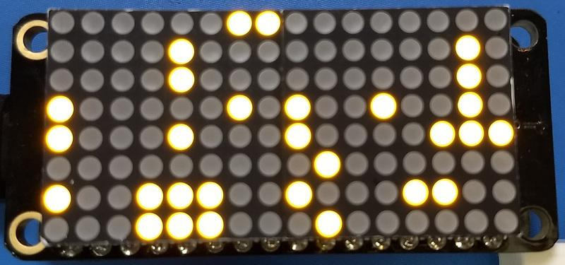 Matrix16x8 - This is for a 16x8 matrix (i.e. double the width of the 8x8 matrices). For the LED Matrix FeatherWing you want to use this Matrix16x8 class.