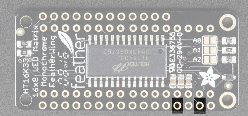 Since it uses only I2C for control, it works with any Feather and can share the I2C pins for other