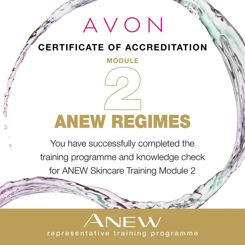 CONGRATULATIONS CERTIFICATE OF ACCREDITATION MODULE ANEW REGIMES This certificate acknowledges that has successfully completed the training programme and knowledge check for ANEW