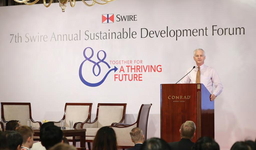 CORPORATE NEWS 公司動向 Swire Properties Recognised at the 7 th Swire Annual Sustainable Development Forum The theme of the Forum this year was Together for a Thriving Future, bringing together over 280