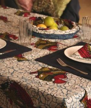 tablecloths All edged with contrasting borders and come in two