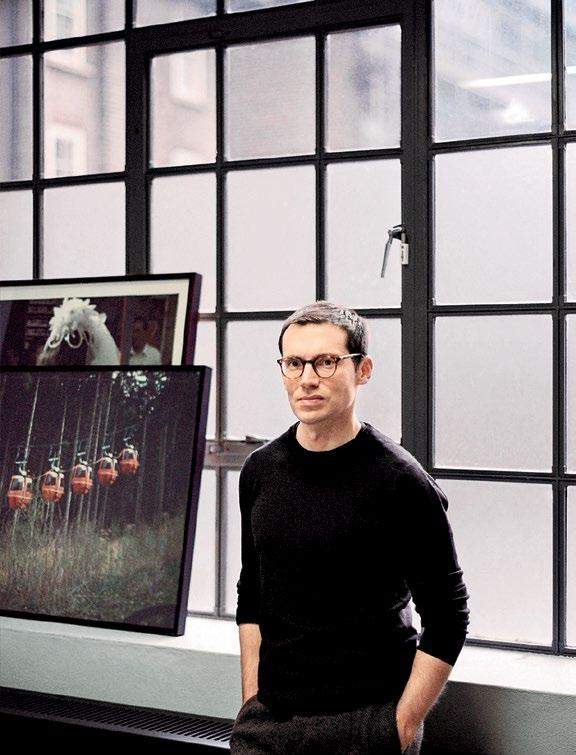 INTERNATIONAL SHOPPING GUIDE Clockwise from right: Erdem Moralioğlu at his London studio; a window display at Selfridge s