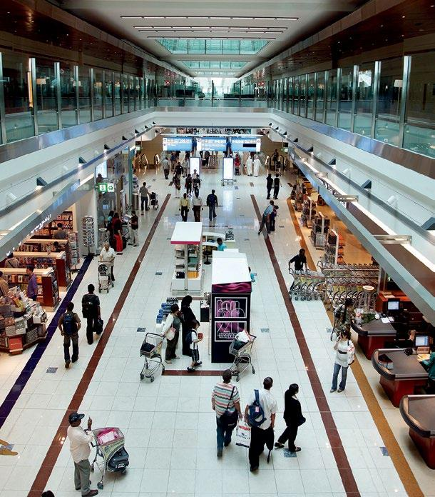 BY BINDU GOPAL RAO The Duty Free shopping area in Terminal 3, Dubai International Airport. DUBAI AIRPORT UAE Spread over 60,000 square feet, Dubai Airport is one of the busiest airports in the world.