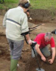 This was a great opportunity for hands on experience of excavating what is a fascinating site south of the site of a late Roman masonry building whose remains were unearthed earlier by archaeologists.