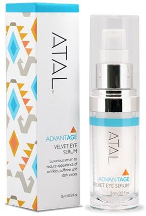 To prevent these unwanted fine lines, puffiness or dark circles, ATAL s Velvet Eye Serum is rich in peptides, antioxidants, hyaluronic acid and moisturizing ingredients.