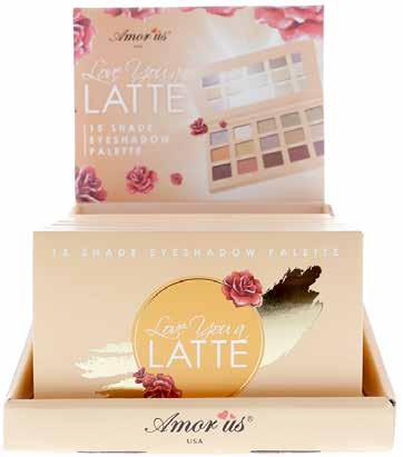 EYES CO-LESD Love You a Latte Eyeshadow Palette This Love You a Latte Eyeshadow Palette will give you a luscious eye look with these warm-toned silky smooth and blendable shadows.