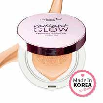 For dry, normal, combination and oily skin types / buildable coverage / natural finish / SPF 50+ / made in Korea /