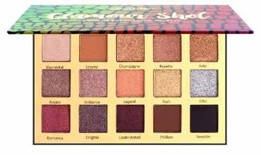 PALETTES CO-GESPD Glamour Shot Eyeshadow Palette This Glamour Shot Eyeshadow Palette gives you fifteen stunning, colour rich and adaptable shades that are sure to inspire your creative expression for