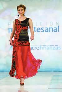 The fashion show, called Beyond Borders, had 30 designs that fused textiles from the states of Chiapas, Oaxaca, Guerrero and Yucatan with modern fabrics.