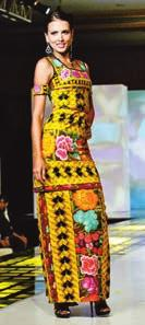 colors matched the indigenous textile designs used as embellishments and embroideries.