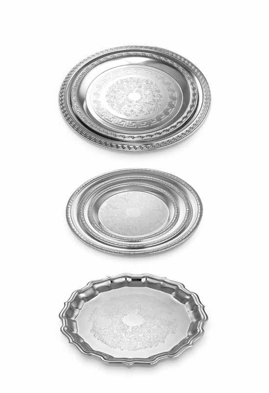 Sumptuous servings Crafted in silver with a finish that will sparkle for years to
