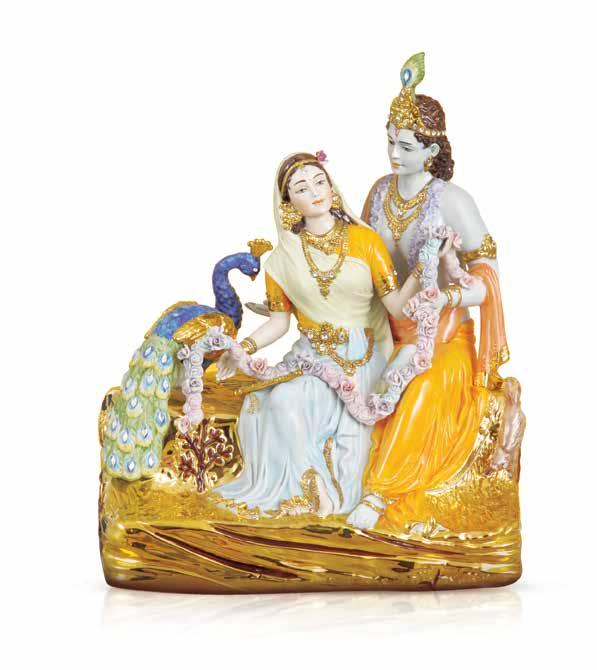 Krishna Murari Spectacular idols of the venerable Kaanha and Radha crafted