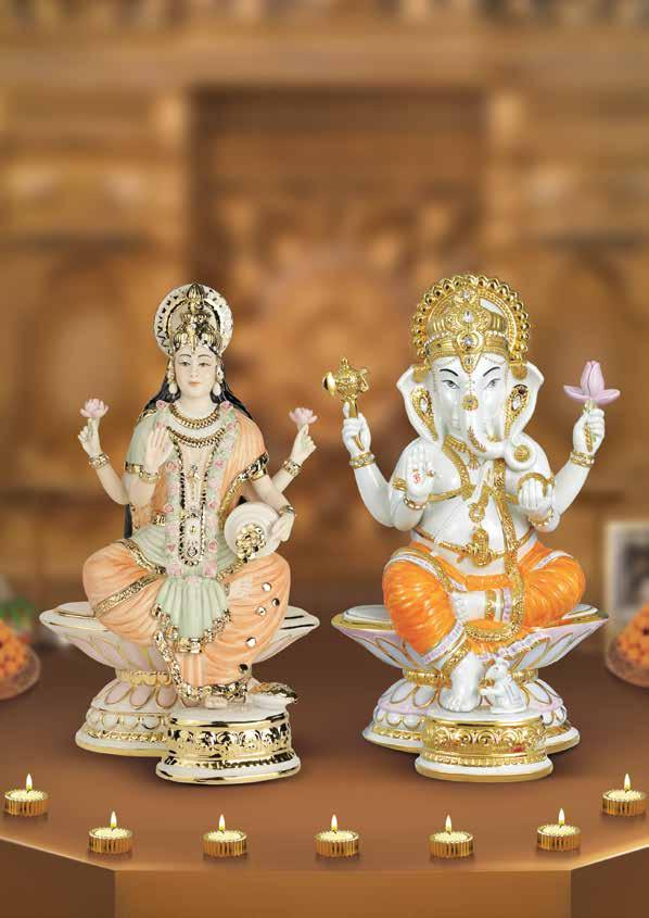Sacred Sentiments Let the divinity of Lord Ganesha and Goddess Laxmi bless you and