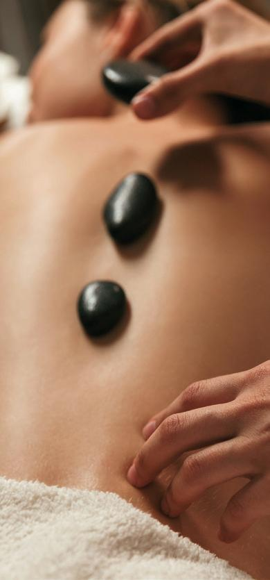 Hot Stone Massage 90 min 100.00 Smooth and soothing stress relief. This is one of the most relaxing and soothing massage techniques, using heated, smooth lava stones and essential oils.