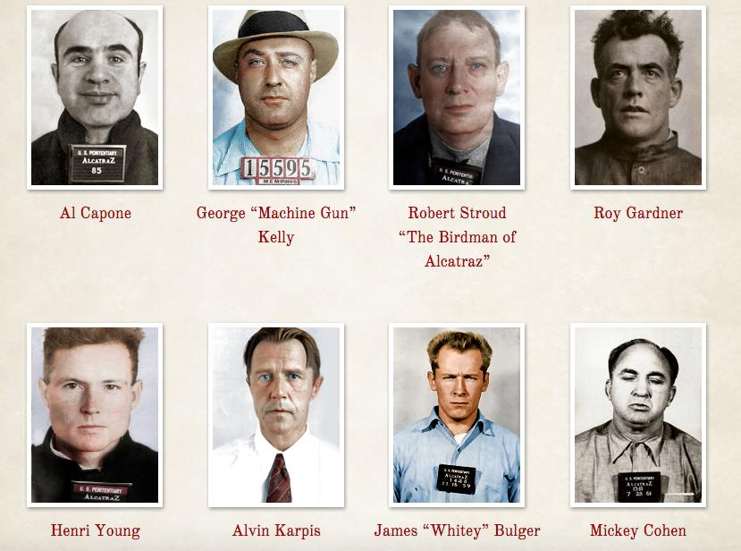 Who were the most famous inmates to stay on Alcatraz?