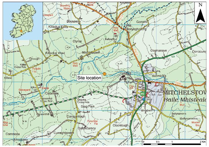 3. The new face of Bronze Age pottery Jacinta Kiely and Bruce Sutton Illus. 1 Location map of Early Bronze Age site at Mitchelstown, Co.