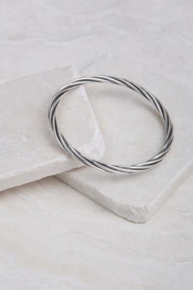 sterling silver on bands of leather.