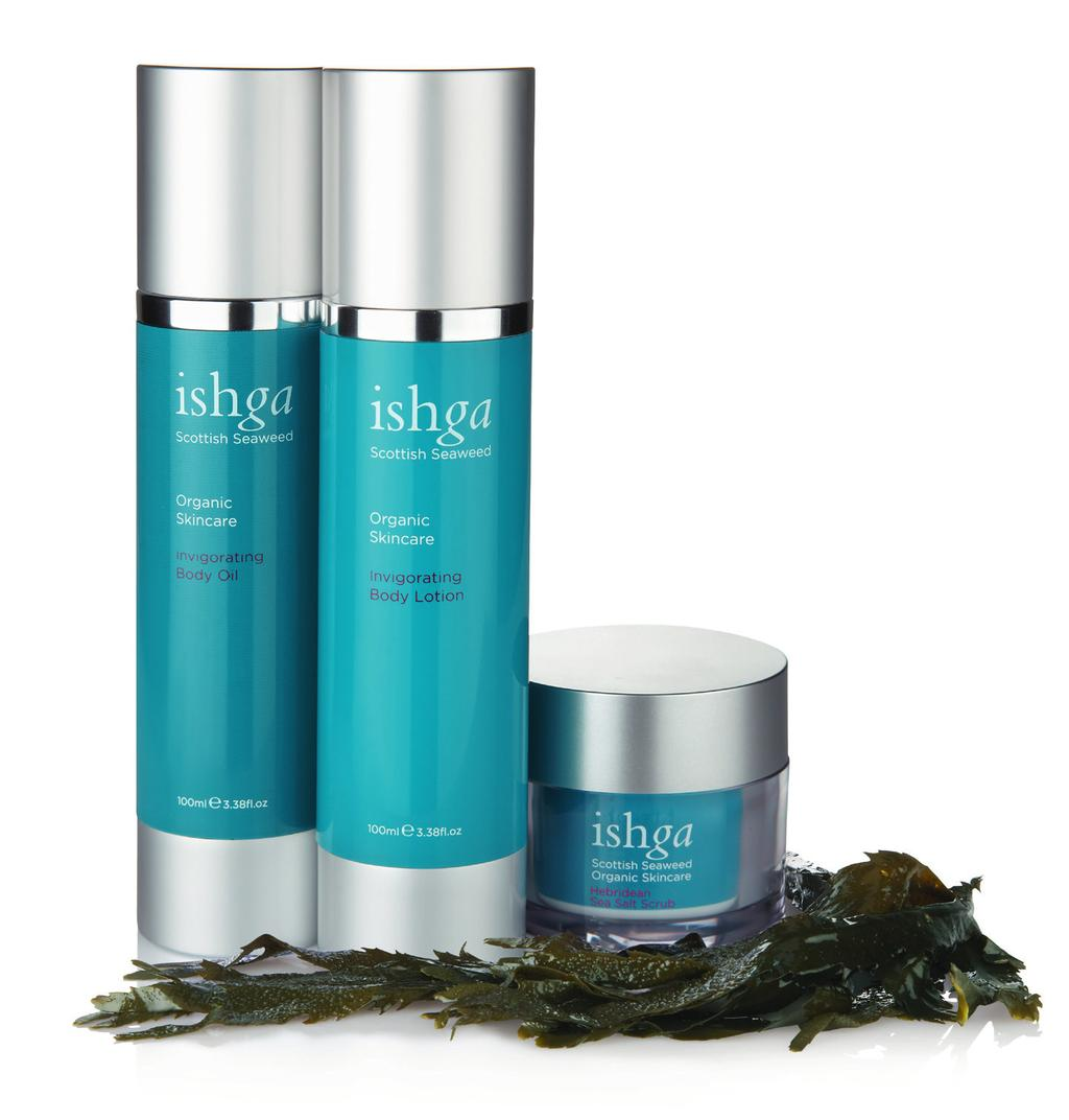 ishga Treatments ishga is derived from the Gaelic word for water.