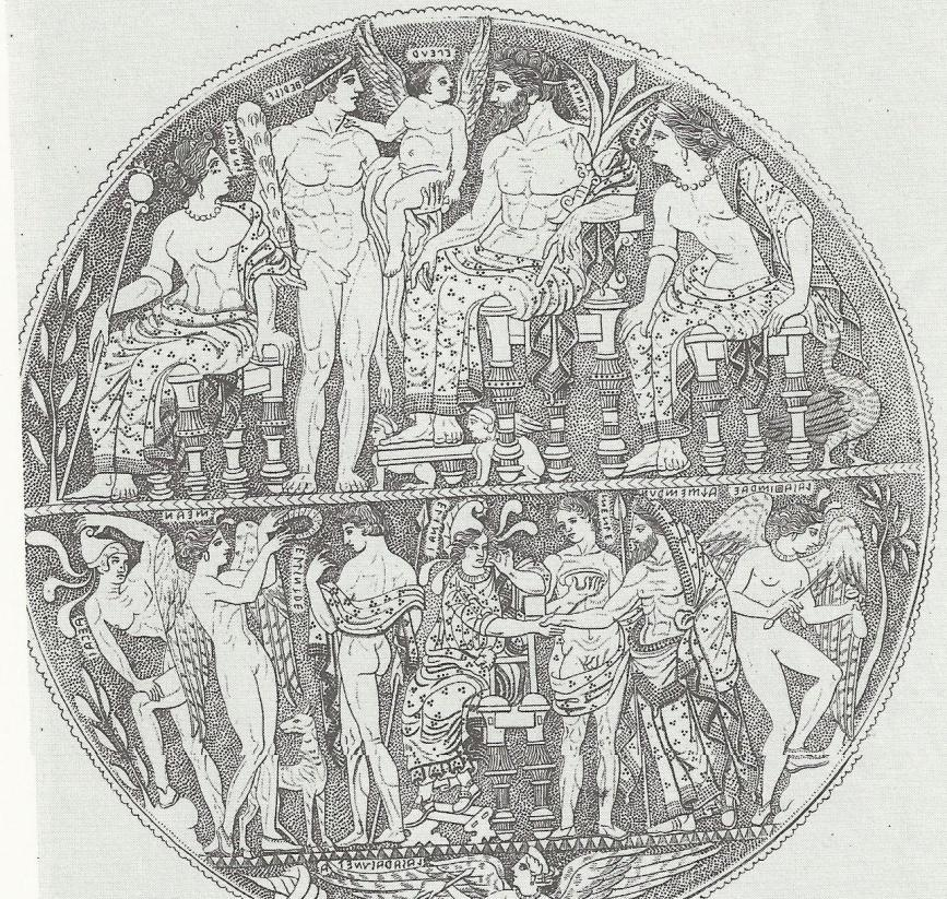 P a g e 99 Figure 43: Throne mirror: Reconciliation of Helen and Alexandros victory.