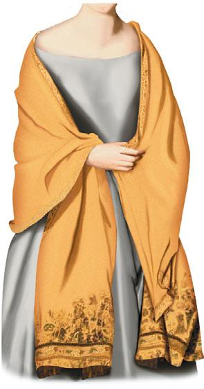 caraco jacket Close-fitting bodice with sleeves, cut off at the hip and buttoned in front; it appeared in the second half of the 18th