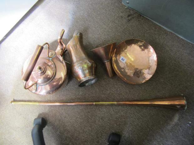 Quantity of copper items