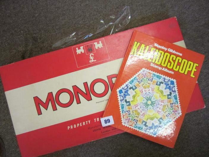 Monopoly board game from 1970s/1980s in part