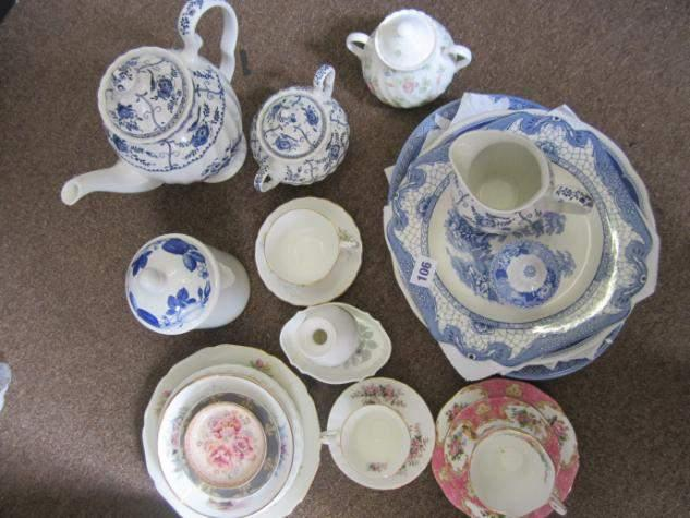 Quantity of assorted tea and dinnerware inc.
