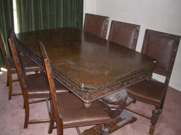dining table and set of x 6