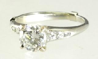 Lot # 458 458 18K white gold diamond engagement ring.
