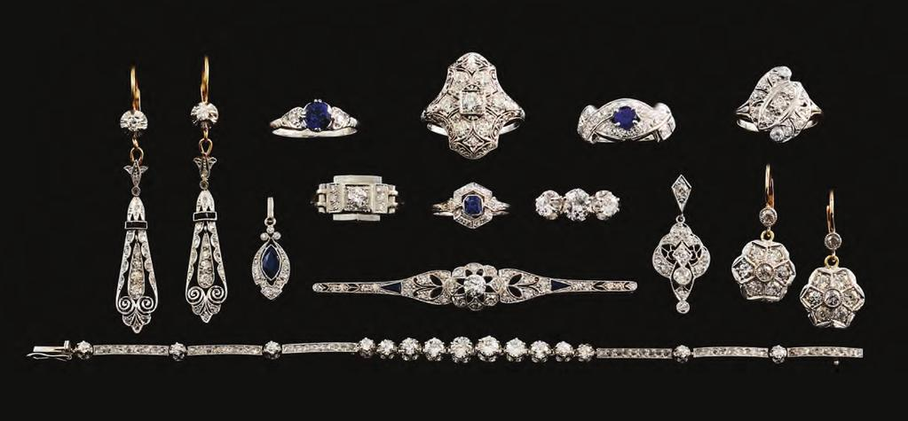 1 6. 9. 1 1 Page Two Superb American Art Deco Platinum Diamond Earrings..$7,200 Marquise Sapphire & Diamond Pendant c1920..$1,800 1950 s Ceylon Sapphire Ring With Diamond Tulip Shoulder.