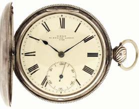 $1800-$2400 742 Charles Frodsham, 84 Strand, London, keyless fusee pocket chronometer with wind indicator, 17 jewels, stem wind and pin set, gilt half plate movement with Earnshaw spring detent