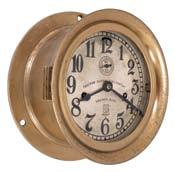 5 inch silvered dial signed by the maker and U.S. Government with black Arabic numerals, movement serial number 599362, c1954. Circa 1954 10.5in x 10.5in x 3in 774 Chelsea Clock Co., Boston, Mass.