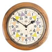 , deck clock, 8 day, time only, springdriven jeweled balance wheel movement in a brass case with hinged bezel, 7.
