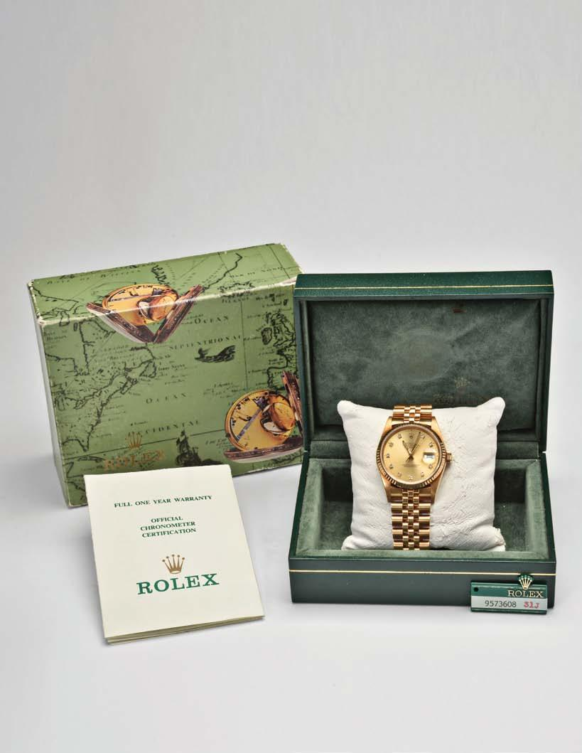 920 Rolex Watch Co., Switzerland, a man s gold Datejust wristwatch, ref.