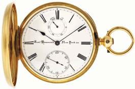 enamel dial, plum colored steel Breguet style hands, 48mm, 61.6g TW, c1850.
