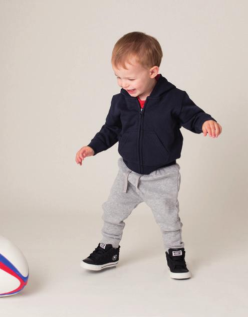 TODDLER JOGGER LW062 Jogging pant with cuff hem and elasticated waist with mock draw cord in self-coloured fabric. For ease of decoration there are no central panels.